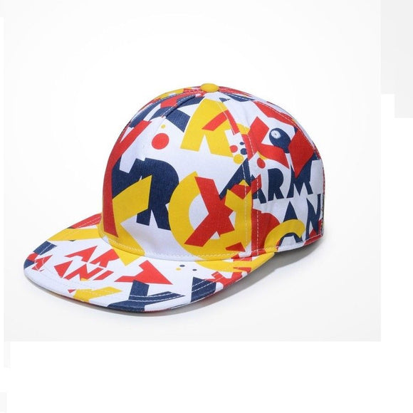 ARMANI EXCHANGE Multi Color Denim A|X Logo Colorful Snapback Hat