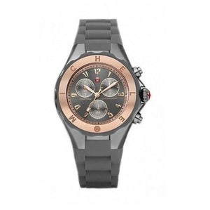 Michele MWW12F000046 Tahitian Jelly Bean Grey Rose Gold Silicone