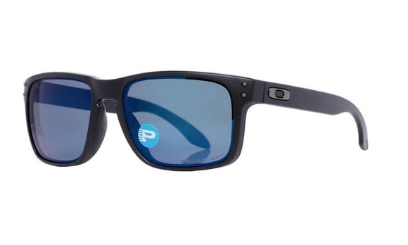 OAKLEY HOLBROOK oo9102-52 Matte Black Ice Iridium Polarized Sunglasses