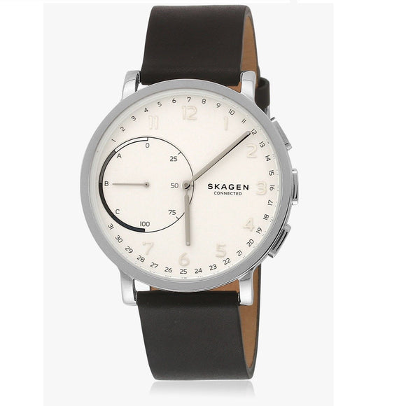 Copy of Skagen Connected SKT1101 Hagen Hybrid Smartwatch Black Leather Band