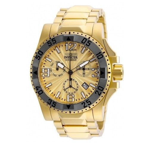 Invicta 23904 Excursion All Gold Gray Bezel Chrono Stainless Steel
