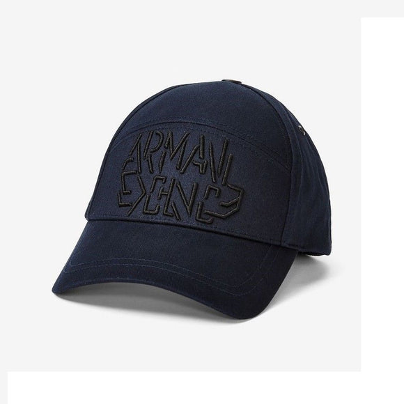 ARMANI EXCHANGE Navy Blue A|X Broken Logo Adjustable Hat