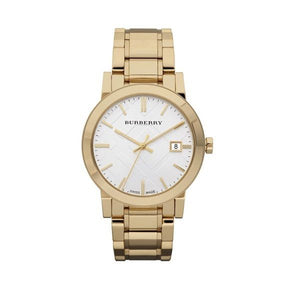 Burberry BU9003 The City Swiss Gold Watch Large Mens