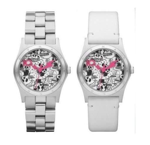 Marc By Marc Jacobs MBM9028 10th Anniversary Women's Silver White Watch Set