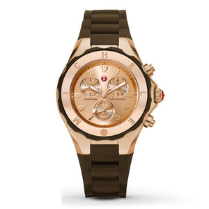 Michele MWW12F000060 Tahitian Jelly Bean Brow Rose Gold Silicone