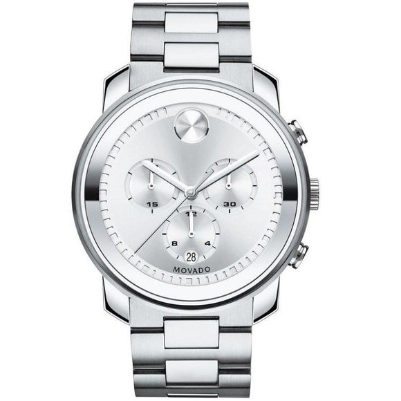 Movado 3600276 Bold All Silver Stainless Steel Chronograph Swiss