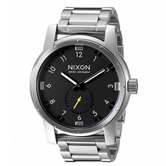 NIXON Patriot Silver Black Dial Stainless Steel Quartz
