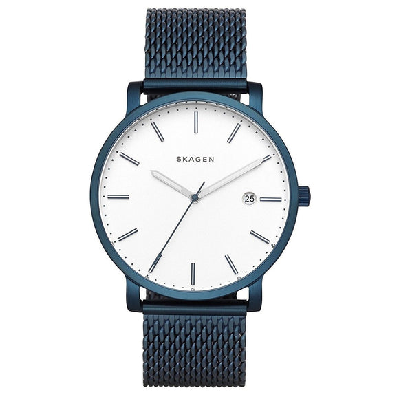 Skagen SKW6326 Hagen Blue Stainless Steel Mesh Band White Dial