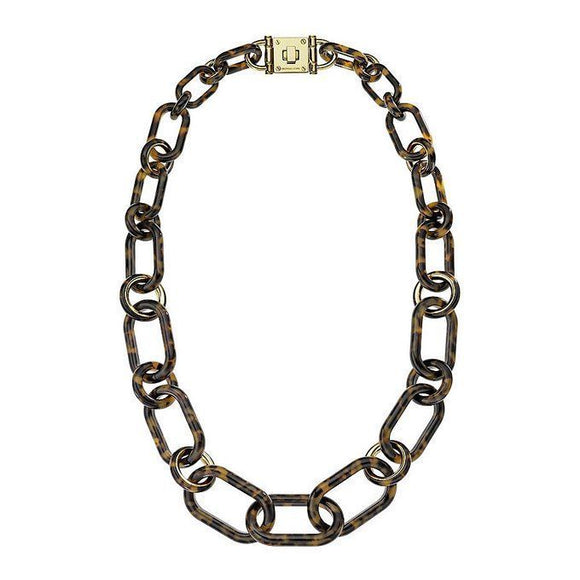 Michael Kors MKJ1683 Tortoise Gold Long Link Necklace