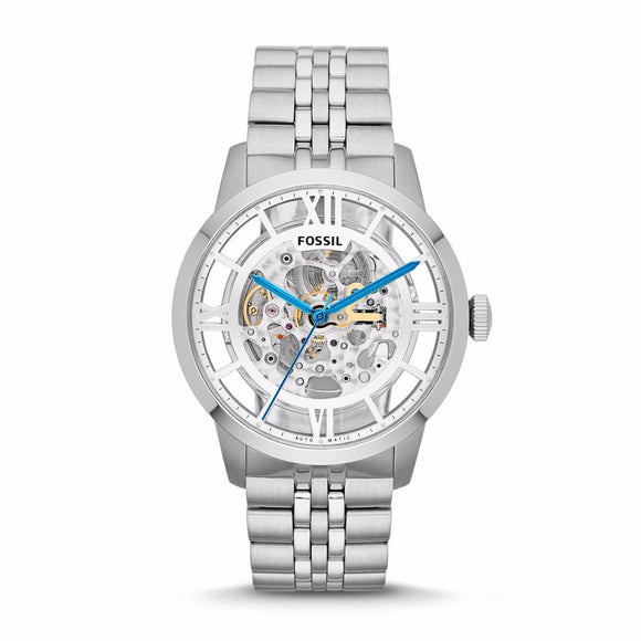 Fossil ME3044 Townsman Silver Automatic Stainless Steel Skeleton