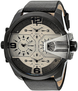 Diesel DZ7391 Uber Chief Brown Leather Chrono 4 Time Zone