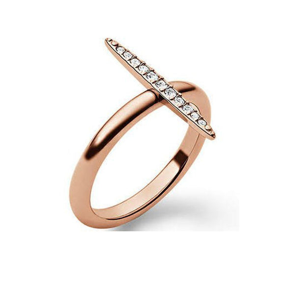 Michael Kors MKJ3524 Brilliance Matchstick Rose Gold Ring Crystal Pave