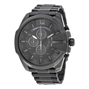 Diesel DZ4355 Mega Chief All Black Ion IP Chronograph