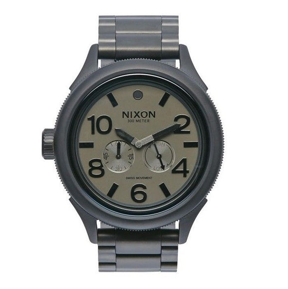 NIXON October Tide Matte Black Matte Gunmetal Dial Quartz
