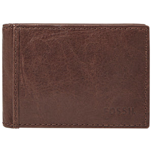 Fossil ML3438200 Ingram Brown Leather Money Clip Bifold Wallet
