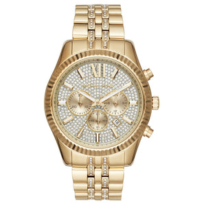 Michael Kors MK8579 Lexington Gold Glitz Dial Stainless Steel