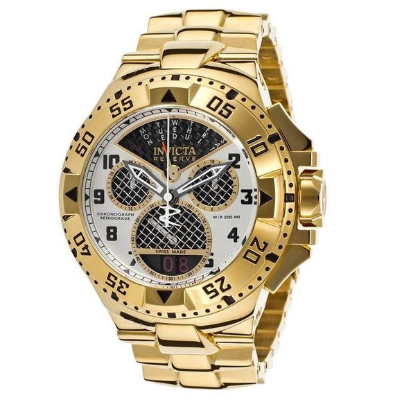 Invicta 17470 Excursion All Gold Chronograph Swiss Stainless Steel