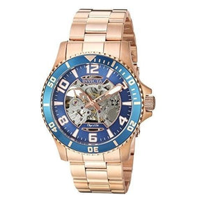 Invicta 22605 Object D Art Rose Gold Blue Bezel Automatic