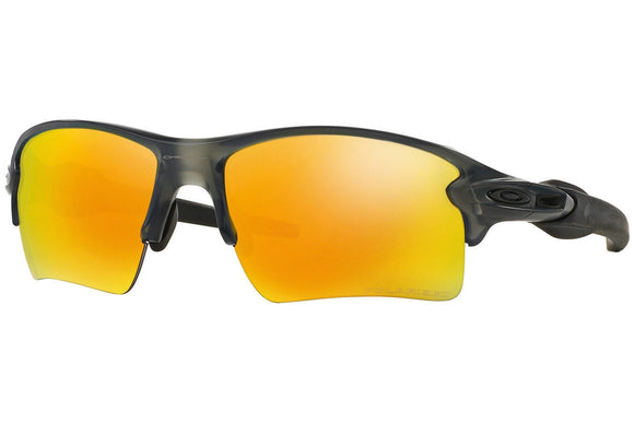 OAKLEY FLAK 2.0 XL OO9188-10 Gray Smoke Fire Iridium Polarized