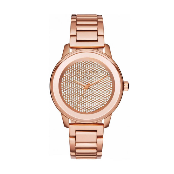 Michael Kors MK6210 Kinley Rose Gold Glitz Pave Dial Stainless