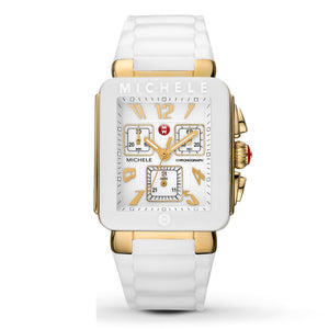Michele MWW06L000013 Park Jelly Bean Gold White Rubber Band