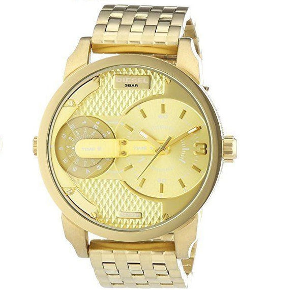 Diesel DZ7306 Mini Daddy Gold Dual Time Stainless Steel