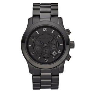 Michael Kors MK8157 Oversized Runway Black Ion Stainless Steel