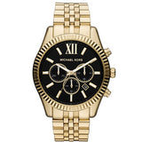 Michael Kors MK8286 Gold Tone Black Dial Lexington