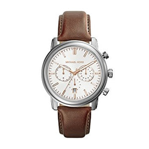 Michael Kors MK8372 Pennant Luggage Leather Strap Chrono Brown
