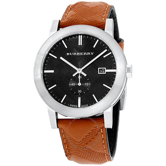 Burberry BU9905 The City Brown Leather Black Dial Silver Dial