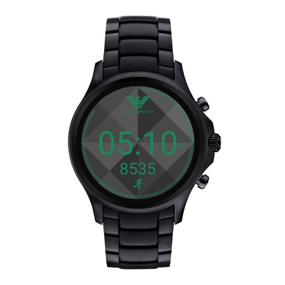 Emporio Armani ART5002 Connected Smartwatch Black Green Touchscreen