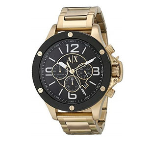 ARMANI EXCHANGE AX1511 Gold Stainless Steel Black Dial Chronograph