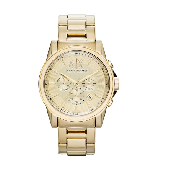 ARMANI EXCHANGE AX2099 Gold Stainless Steel Chronograph Quartz
