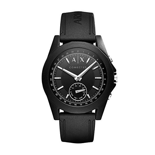 Armani Exchange AXT1001 Hybrid Connected Black Silicone Band Smart 44MM