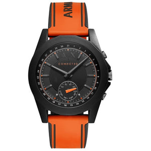 Armani Exchange AXT1003 Hybrid Connected Black Orange Silicone Band