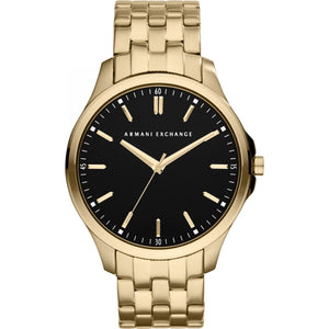 Armani Exchange AX2145 Gold Black Dial Gold Accent Stainless steel