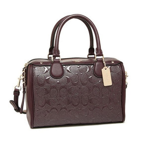 Copy of Coach F11920 IML7C Mini Bennett Patent Signature Leather Satchel Bag Oxblood 1