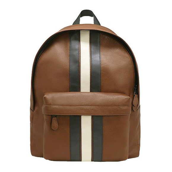 Coach F23214 QBN3D Charles Saddle Backpack In Varsity Leather Traveler