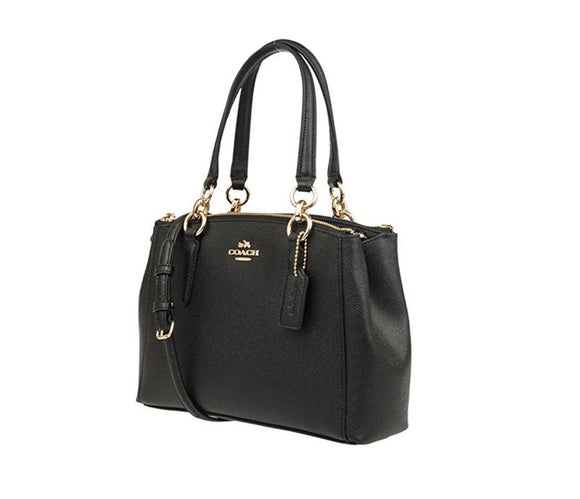 Coach F25395 IMBLK Mini Brooke Black Carryall Crossgrain Leather Handbag