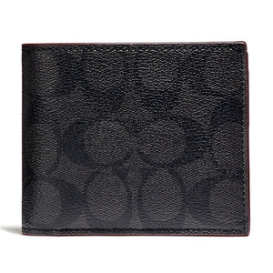 Coach F32304 REM Double Billfold Red Multi Floral Hawaiian Lilly Wallet