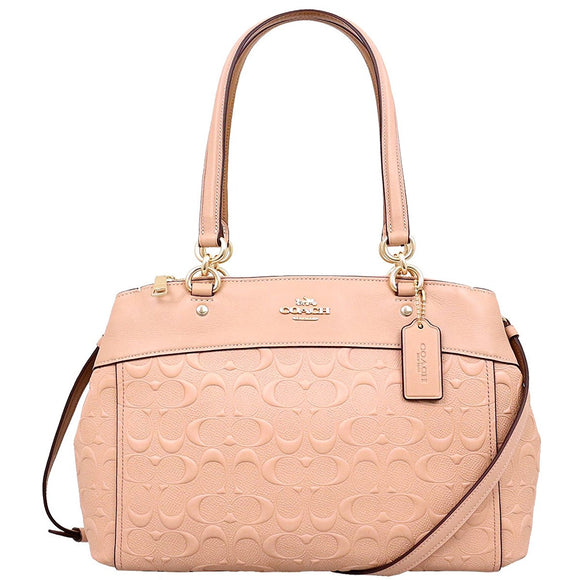 Coach F25952 IMA55 Brooke Carryall Nude Pink Signature Leather Handbag