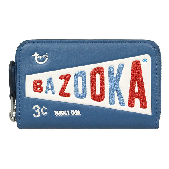 Coach F26391 Topps Bazooka Bubble Gum Limited Blue Leather Coin Purse Wallet