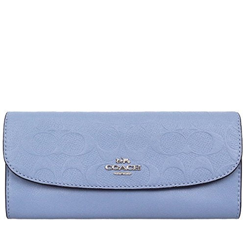 Coach F26460 SV/PQ Signature Pool Embossed Leather Soft Wallet