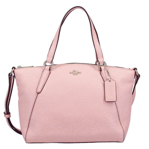 Coach F27596 SVEZM Mini Kelsey Blush 2 Pebble Leather Crossbody Satchel Handbag