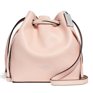 Coach F28039 SV/LP Derby Crossbody Light Pink Leather Handbag