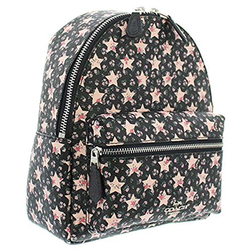 Coach F29656 SVF23 Mini Charlie Midnight Star Print Floral Backpack Leather