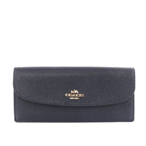 Coach F59949 IMMID Crossgrain Midnight Leather Soft Slim Wallet