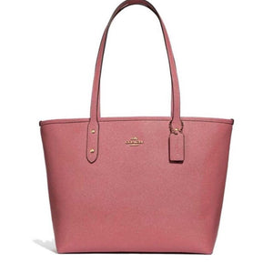Coach F31254 IMPEO City Zip Tote Peony Glitter Crossgrain Leather  Brand