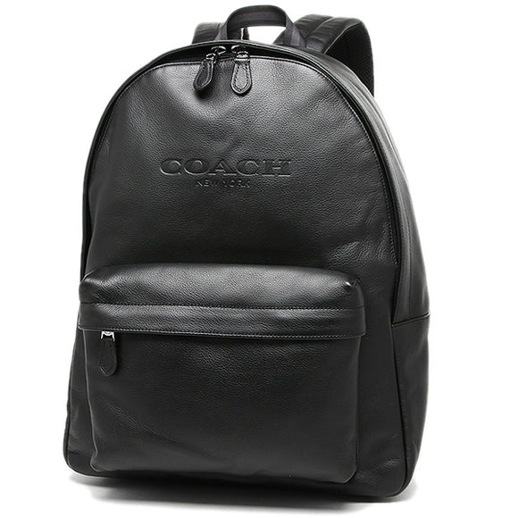Coach F54786 BLK Charles Black Backpack Sport Calf Leather Traveler School