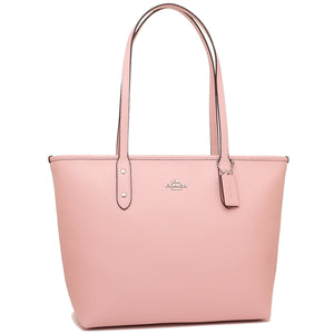 Coach F58846 SVEZM City Zip Tote Blush Crossgrain Leather Handbag Pink